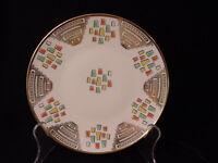 Antique   Porcelain Designed Bright Colors Mitterteich Bavaria China Plate