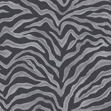 G67492 - Natural FX Black & Silver Zebra stripe effect pattern Galerie Wallpaper