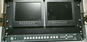 Kramer VP-728 HD Video Audio Presentation Switcher Scaler Rack with Screens