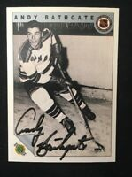 ANDY BATHGATE 1992 ULTIMATE AUTOGRAPHED SIGNED AUTO HOCKEY NHL CARD 18