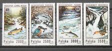 - Polen Poland 1992 Mi. Nr. 3379-3382 ** postfrisch MNH waterfalls fauna