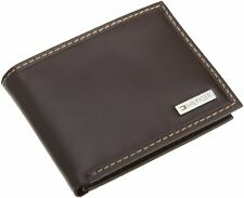 NEW TOMMY HILFIGER MEN'S LEATHER CREDIT CARD ID WALLET BILLFOLD BROWN 31TL22X053