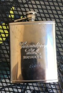 CA NADIAN CLUB RESERVE Stainless Steal Flask 5 X4 X1