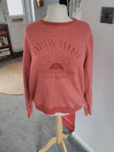 Fatface orange slogan jumper size 18
