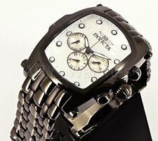 Invicta 23430 Grand Lupah White Dial Swiss Black IP Multifunction Bracelet Watch