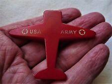 Vintage Cherry Red Bakelite WW2 US ARMY PLANE Pocket Pencil Sharpener