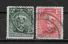 SOUTHERN RHODESIA , 1924/30 , KING GEORGE V , SET OF 2 STAMPS ,  PERF , USED