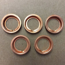 5pcs Oil Drain Plugs Crush Washers Gaskets Copper 1102601M02 For Nissan Infiniti