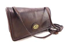 THE BRIDGE current small dark brown leather crossbody shoulder bag 020109-01