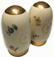 Eggshell Nautilus Salt & Pepper Gold Porcelain Homer Laughlin Oval