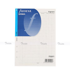 Filofax Book A5 Organiser Planner Expenses Notepaper Refill Accessory 340605
