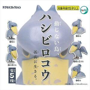 Doujinaitori Bird Shoebill Hashibiroko Figure Complete set 5 types Capsule toy