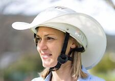 """""""NEW """"WESTERN STYLE HORSE RIDING HELMET SHADE ONE SIZE FITS ALL IN ALL WHITE"""