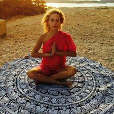 Round Tapestry Elephant Art Hippie Mandala Throw Table Cloth Yoga Mat Boho Sheet