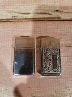 Lot Of 2 Vintage Zippo Lighter                                              D2