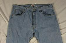Levi 501 Button Fly Straight Leg Faded Denim Jeans Tag 36x30 Measure 36x30.5