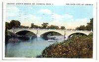 1926 Gratiot Avenue Bridge, Mt. Clemens, MI Postcard