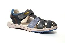 New $80 KICKERS Platinium Kids Boys LEATHER Fashion Sandals Size 4 USA/36 EURO
