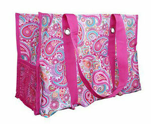 Thirty-one Utility Tote Pink Paisley Beach Travel Shopping Shoulder Bag