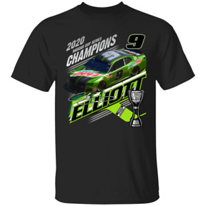 NASCAR 2020 Chase Elliott Team Collection Cup Series Champion Black T-shirt S...
