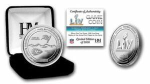 SUPER BOWL LV NFL .999 SILVER FLIP COIN #0537/2020