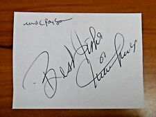 Joan Payson (Mets Owner dec 1975) Willie Mays Vtg 1970's Autographs Full JSA Let