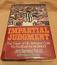 Jim Tunney NFL Referee - Impartial Judgment - 1988 - Author SIGNED & Inscribed