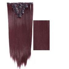 100% Real As Human New Thick Hair Clip In Hair Extensions Full Head Black Brown