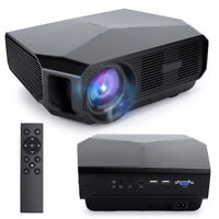 Full HD Native 4600 Lumen Home Theater HD TV 3D LCD LED Video Projector 4000:1