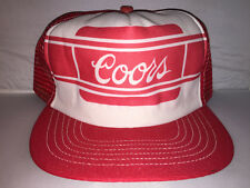 Vtg Coors Light Snapback hat cap 90s Beer Brew Frat College Trucker MADE IN USA