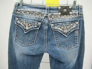 L8693 Miss Me Women's Signature Rise Boot Cut Denim Jeans Size 30