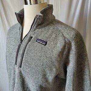 Patagonia Mens Medium Better Sweater 1/4 Zip Pullover Jacket Heather Gray