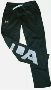 Under Armour Boys YLG Track Fleece Sweatpants Black 1331651 001