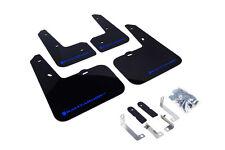 RallyArmor Black Mud Flaps (Blue Logo) for 12-16 Hyundai Veloster