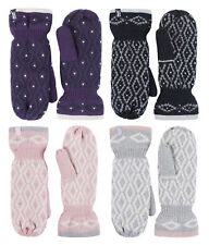 Heat Holders Womens Patterned Fleece Lined Insulated Warm Thermal Winter Mittens