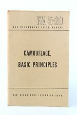 Camouflage Basic Principles FM 5-20: Army Field Book 1944 WWII