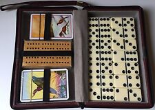 Piatnik Vienna Deluxe Playing Cards, Cribbage Set and Dominoes in Case New!