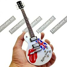 Mini Guitar scale 1:4 Rolling Stones Mick jagger miniature gadget collectible