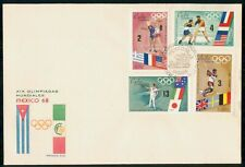 Mayfairstamps Habana 1968 Olympics combo First Day Cover wwh40977