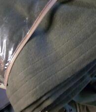 RARE Ralph Lauren Olive Green Wool Queen Bed Blanket New