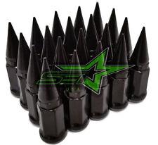 32 BLACK SPIKE LUG NUTS 9/16-18   RAM 2500 3500 FORD F250 F350 1987-1999 USA