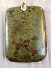 dragon bloodstone pendant bead rectangle chakra healing stone FREE SHIPPING