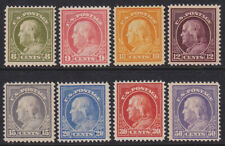 More details for united states 1912-14 franklin set of eight, 8c - 33032