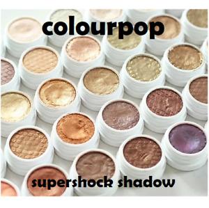 ColourPop SUPER SHOCK Shadow Eyeshadow Glitter, Metallic, Matte Genuine VARIOUS