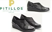 Pitillos Shoes Spain Comfort wedge dress Leather Slip ons Pitllos Footwear 6324