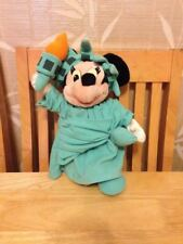 Disney Store Exclusive Minnie Mouse Statue of Liberty Mickey Plush Toy 13""