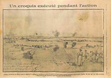 Croquis Battle of Suwalki Poland Pologne Prussia Officiers Russia Army WWI 1914