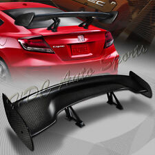 "57"" TYPE-3 Carbon Fiber Adjustable Rear Trunk GT-Style Spoiler Wing Universal 5"
