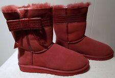 NEW UGG Boots JOSETTE Sangria Red Women's Size 7