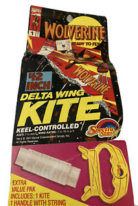 "VTG 1991 Wolverine Delta Wing Kite Marvel 42"" Keel Controlled Spectra Star - New"
